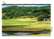 Summer Morning Hay Field Carry-all Pouch