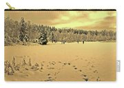 Sunset At Winter Lake Carry-all Pouch