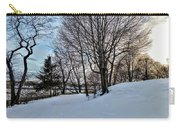 Sunset Over Obear Park In Snow Carry-all Pouch