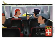 Switzerland Vintage Travel Poster Restored Carry-all Pouch