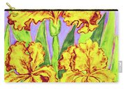 Three Yellow Irises, Painting Carry-all Pouch