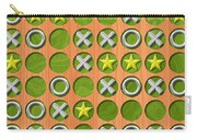 Tic Tac Toe Wooden Board Generated Seamless Texture Carry-all Pouch