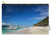 Traditional Filipino Ferry Taxi Tour Boats Puka Beach Boracay Ph Carry-all Pouch