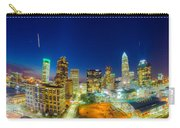View Of Charlotte Skyline Aerial At Sunset Carry-all Pouch by Alex Grichenko