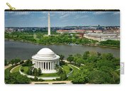 View Of The Jefferson Memorial And Washington Monument Carry-all Pouch