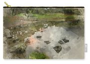 Watercolor Painting Of Beautiful Autumn Fall Landscape Image Of  Carry-all Pouch