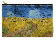 Wheat Field With Crows Carry-all Pouch