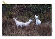 3 White Deer Carry-all Pouch