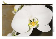 3 White Orchids Carry-all Pouch