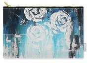 3 White Roses Carry-all Pouch