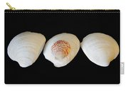 3 White Shells Carry-all Pouch