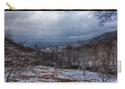Winter Landscape And Snow Covered Roads In The Mountains Carry-all Pouch