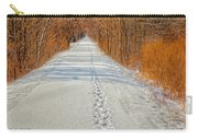 Winter On Macomb Orchard Trail Carry-all Pouch
