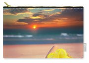 Woman On The Beach Carry-all Pouch