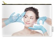 Young Woman Having Botox Face Injections. Carry-all Pouch