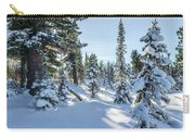 Amazing Landscape With Frozen Snow-covered Trees In Winter Morning  Carry-all Pouch