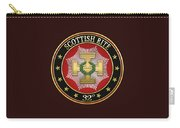 32nd Degree - Master Of The Royal Secret Jewel On Black Leather Carry-all Pouch