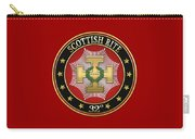 32nd Degree - Master Of The Royal Secret Jewel On Red Leather Carry-all Pouch