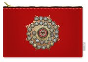 33 Scottish Rite Degrees On Red Leather Carry-all Pouch