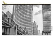 333 W Wacker Drive Black And White Carry-all Pouch