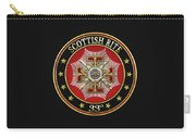 33rd Degree - Inspector General Jewel On Black Leather Carry-all Pouch