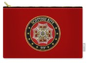 33rd Degree - Inspector General Jewel On Red Leather Carry-all Pouch