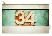 34 On Weathered Aqua Carry-all Pouch