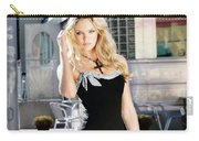 345337 Women Long Hair Lips Eyes Candice Swanepoel Carry-all Pouch