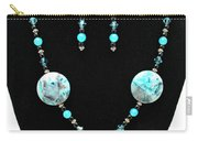 3508 Crazy Lace Agate Necklace And Earrings Carry-all Pouch