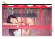 351943 Closed Eyes Asian Women Model Carry-all Pouch