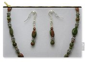 3525 Unakite Necklace And Earring Set Carry-all Pouch