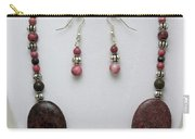 3544 Rhodonite Necklace Bracelet And Earring Set Carry-all Pouch