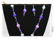 3547 Purple Veined Agate Set Carry-all Pouch