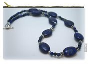 3553 Lapis Lazuli Necklace And Earrings Set Carry-all Pouch