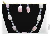3560 Rose Quartz Necklace And Earrings Set Carry-all Pouch