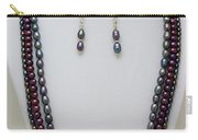 3562 Triple Strand Freshwater Pearl Necklace Set Carry-all Pouch
