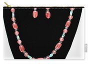 3570 Cherry Quartz Czech Glass Set Carry-all Pouch