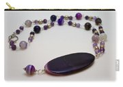 3573 Banded Agate Necklace  Carry-all Pouch