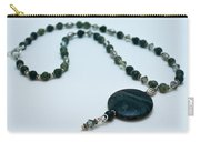 3577 Kambaba And Green Lace Jasper Necklace Carry-all Pouch