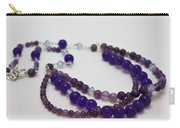 3580 Amethyst And Adventurine Necklace Carry-all Pouch