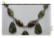 3602 Dragons Blood Jasper Necklace Carry-all Pouch