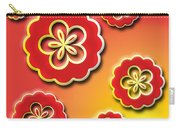3d Digital Flowers Carry-all Pouch
