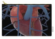 3d Rendering Of Human Heart Carry-all Pouch