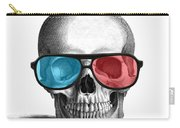 skull with 3D glasses Carry-all Pouch