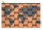 3d World Map Composition Carry-all Pouch