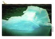 Blue Icebergs And Ice Chunks In Water Nearby Alaska Carry-all Pouch