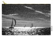 4 Boats On The Horizon Bw Carry-all Pouch