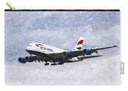 British Airways Airbus A380 Art Carry-all Pouch