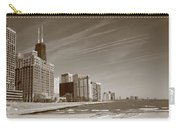 Chicago Skyline And Beach Carry-all Pouch