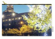 Christmas Season Decorations Around Charlotte North Carolina And Carry-all Pouch
